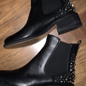 Sam Edelman engineers boots studs 7 black silver